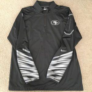 Nike Platinum Fly Rush 2.0 Half-Zip SF 49ers Jkt